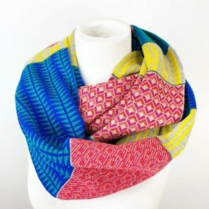 Echo colorblock Ribbed Infinity Scarf Multi color